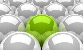 plata verde 01 de las bolas 3d Imagen de archivo libre de regalías