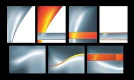 Plata y conjunto anaranjado del extracto de 7 stock de ilustración