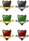 Plata y escudo y cinta del oro Imagenes de archivo