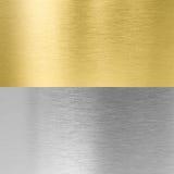 Plata y texturas cosidas oro del metal fotografía de archivo