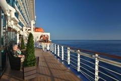 Plataforma aberta do navio real da princesa foto de stock