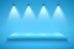 Plataforma azul da apresentação da cor ilustração royalty free