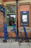Plataforma central de la estación de Loughborough foto de archivo libre de regalías