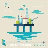 Plataforma costera familiar Rig Symbol del aceite stock de ilustración
