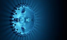 Plataforma 3d tecnologico Imagens de Stock