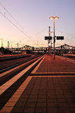 Plataforma da estação de comboio fotos de stock royalty free