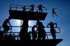 Plataforma da piscina Foto de Stock
