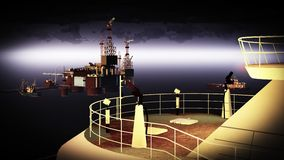 Plataforma da plataforma petrolífera Imagens de Stock Royalty Free