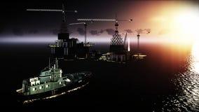 Plataforma da plataforma petrolífera Imagem de Stock