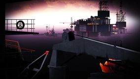 Plataforma da plataforma petrolífera Fotos de Stock