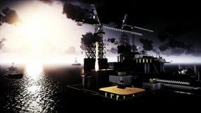 Plataforma da plataforma petrolífera Fotos de Stock Royalty Free