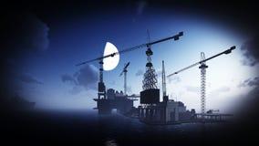 Plataforma da plataforma petrolífera Fotografia de Stock Royalty Free