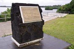 Plataforma de aterrizaje de capitán Cook - Tonga Imagen de archivo libre de regalías