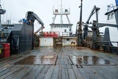 Plataforma de barco da pesca comercial Foto de Stock