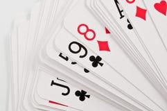 Plataforma de cartões Fotografia de Stock Royalty Free