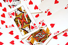 Plataforma de cartões Foto de Stock Royalty Free