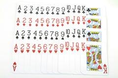 Plataforma de cartões cheia foto de stock