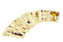 Plataforma de cartões de tarô para dizer da fortuna Fotos de Stock Royalty Free