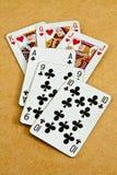 Plataforma de cartões velha Fotografia de Stock Royalty Free