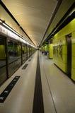 Plataforma de Hong Kong MTR Foto de Stock