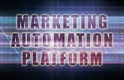 Plataforma de la automatización del márketing Fotos de archivo libres de regalías