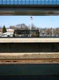 Plataforma de la estación de tren Imágenes de archivo libres de regalías