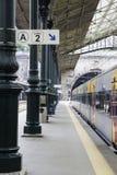 Plataforma de la estación de tren de Bento del sao imagen de archivo libre de regalías