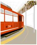 Plataforma de la estación de tren Imagenes de archivo