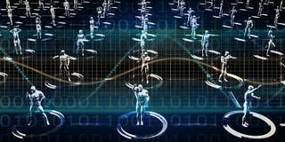 Plataforma de las comunicaciones de Digitaces libre illustration