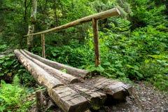 Plataforma de madeira Imagens de Stock