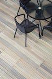 Plataforma de madeira artificial fotografia de stock