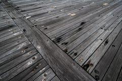 A plataforma de madeira de uma navio de guerra Imagem de Stock Royalty Free