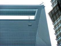 A plataforma de observação do obervatório do centro financeiro de mundo de Shanghai foto de stock