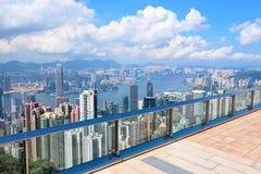 Plataforma de observação em Hong Kong fotos de stock royalty free