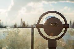 Plataforma de observação em Moscou, um panorama dela imagens de stock