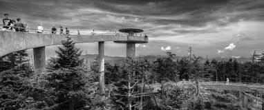 Plataforma de observação em preto e branco Foto de Stock Royalty Free