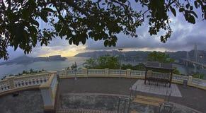 Plataforma de observación en la isla de Lantau Imagen de archivo libre de regalías