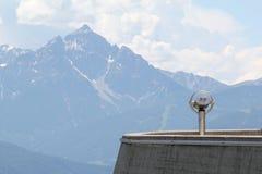 Plataforma de observación en las montañas Fotografía de archivo