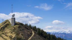 Plataforma de observación en Monte Lema Switzerland imagen de archivo