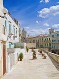 Plataforma de observación en Molfetta Oldtown. Apulia. Fotos de archivo libres de regalías