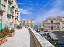 Plataforma de observação em Molfetta Oldtown. Apulia. Imagens de Stock