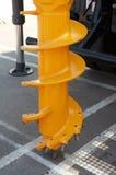 Plataforma de perforación amarilla Foto de archivo libre de regalías