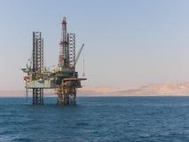 Plataforma de perforación de petróleo y de gas Fotografía de archivo libre de regalías