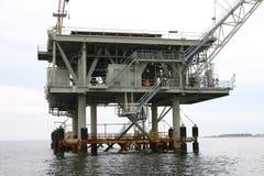 Plataforma de perfuração no golfo de México Imagens de Stock