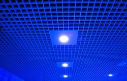 Plataforma de Salão com tetos e luzes Fotografia de Stock