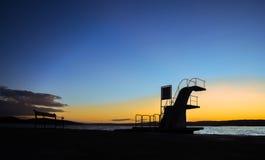 plataforma de salto de 3 metros Foto de archivo libre de regalías