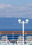 Plataforma de Sun no navio de cruzeiros Foto de Stock Royalty Free