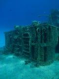 Plataforma de um navio Sunken Foto de Stock Royalty Free