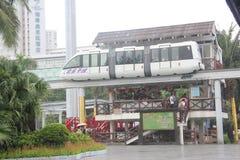 Plataforma de visita turístico de excursión del tren de la antena sin tripulación en SHENZHEN Imagen de archivo