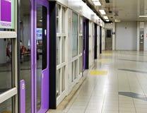 Plataforma del subterráneo de Japón Imagenes de archivo